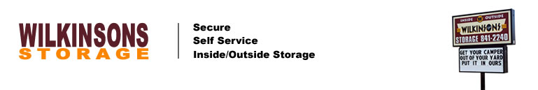 Return to Wilkinson Storage home page